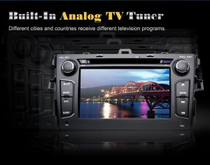 "7""HD Digital Touch Screen 2-Din Car DVD Player Toyota Corolla GPS-Steering Wheel Control DVB-T"