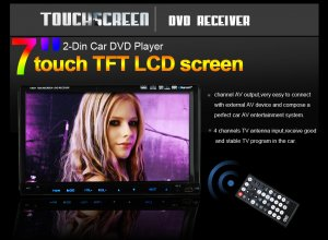 "7"" Touch Screen 2 Din Car DVD Player-GPS-Dual Zone-Support iPod-Bluetooth-TV-Steering Wheel Control"