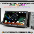 "7"" 2 Din HD Car Multimedia Player, Touchscreen, GPS Digital TV, DVD, Radio, USB, Car DVD player"