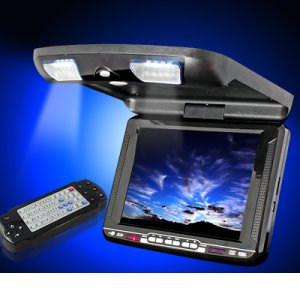 10.4in Roof Mount Flip Down Car DVD Player with USB-Game-Radio Function
