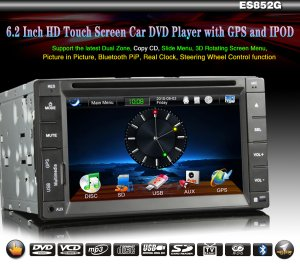 6.2 Inch 2 Din Car cd player with GPS RDS Steering wheel control-952