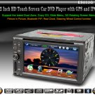 HD Touch Screen 2 din 6.2 &quot; Car Video Player GPS PiP Dual Zone Analog TV RDS 853G