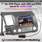 HD 7&quot; Car Entertainment with DVB-T GPS 3D Rotating USB SD Special for Honda CIVI