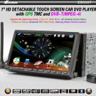 7 inch Double Din 3DCar DVD Player DVB-T(MPEG4) GPS TMC Bluetooth PIP Detachable Panel -896T