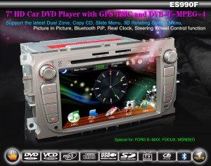 "7"" HD Car DVD Player GPS Sat Nav TMC DVB-T MPEG-4 FORD FOCUS MONDEO"