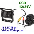 CCD Color Reversing Camera 12V/24V 18 LED