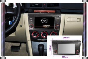 Special Car Audio Player for MAZDA 3 PIP BT Can-bus