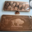 ♦HUGE♦ 10 OZ OUNCE .999 COPPER BUFFALO BAR SEALED ♦FREE SHIPPING♦