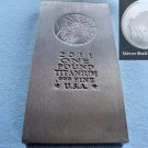 1 FULL POUND = 16 OZ OUNCE .999 TITANIUM BULLION INGOT BAR ♦RARE♦ FREE SHIPPING !!!