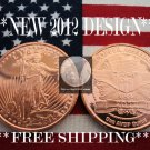 2012 1 OZ .999 COPPER BULLION ROUND COIN ♦ST. GAUDENS♦ PROOF BU GEM♦NEW SILVER ?