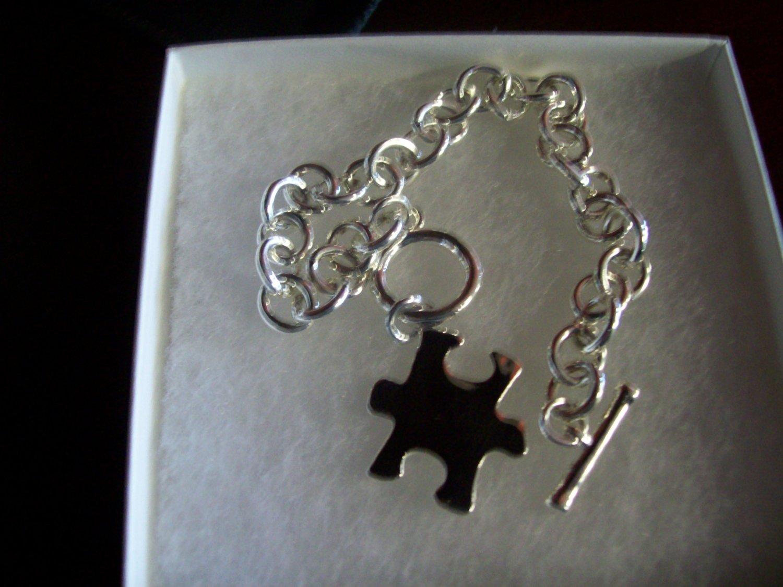 Autism Puzzle Piece Bracelet