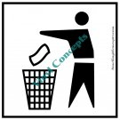 Trash Sign Misc Art Stick Figure #1 Decal Sticker
