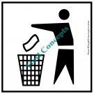 Trash Sign Misc Art Stick Figure #1 Decal Sticker