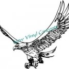 Flaming Eagle Tribal Style #6 Decal Sticker LARGE