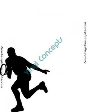 Tennis Sport Silhouette #8 Decal Sticker