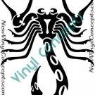 Scorpio Zodiac Astrological Sign Symbol Tribal Decal Sticker