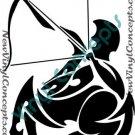 Sagittarius Zodiac Astrological Sign Symbol Tribal Decal Sticker