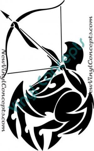 Tribal Sagittarius Zodiac Symbol Tattoos