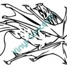 Dragon Style #4 (Fantasy & Science Fiction) Decal Sticker