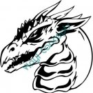 Dragon Head Style #1 (Fantasy & Science Fiction) Decal Sticker