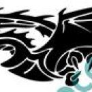 Dragon Horizontal Style#2 (Fantasy & Science Fiction) Decal Sticker