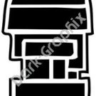 Calli House Aztec Ancient Logo Symbol (Decal - Sticker)
