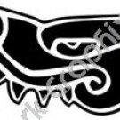 Cipactli Crocodile Aztec Ancient Logo Symbol (Decal - Sticker)