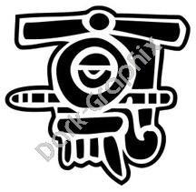 Quiauitl Rain Aztec Ancient Logo Symbol Decal Sticker