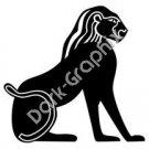 Egyptian Deity 2 Egyptian Ancient Logo Symbol (Decal - Sticker)