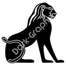 Egyptian Deity 2 Egyptian Ancient Logo Symbol (Decal - Sticker)