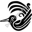Bird 2 Meso Deko Ancient Logo Symbol (Decal - Sticker)