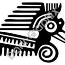 Bird Head Meso Deko Ancient Logo Symbol (Decal - Sticker)