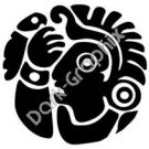 Face 5 Meso Deko Ancient Logo Symbol (Decal - Sticker)
