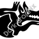 Wolf Meso Deko Ancient Logo Symbol (Decal - Sticker)