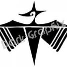 Dragonfly Native American Ancient Logo Symbol (Decal - Sticker)
