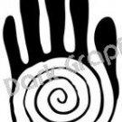 Hand Sacred Native American Ancient Logo Symbol (Decal - Sticker)