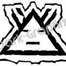 Morning Star Native American Ancient Logo Symbol (Decal - Sticker)
