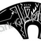 Bear Southwest Ancient Logo Symbol (Decal - Sticker)