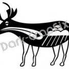 Deer Southwest Ancient Logo Symbol (Decal - Sticker)