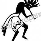Kolopelli Southwest Ancient Logo Symbol (Decal - Sticker)