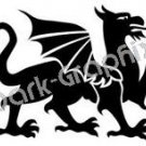 Dragon 3 Fantasy Logo Symbol (Decal - Sticker)
