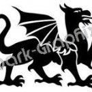 Dragon 3 Fantasy Logo Symbol (Decal - Sticker)