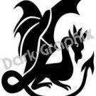 Dragon 4 Fantasy Logo Symbol (Decal - Sticker)