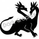 Dragon 5 Fantasy Logo Symbol (Decal - Sticker)