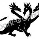 Dragon 6 Fantasy Logo Symbol (Decal - Sticker)