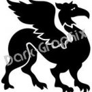 Dragon 8 Fantasy Logo Symbol (Decal - Sticker)
