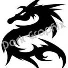 Dragon 10 Fantasy Logo Symbol (Decal - Sticker)