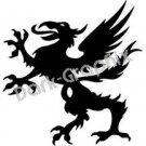 Dragon 13 Fantasy Logo Symbol (Decal - Sticker)