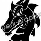 Dragon 15 Fantasy Logo Symbol (Decal - Sticker)