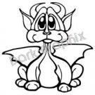 Dragon 16 Fantasy Logo Symbol (Decal - Sticker)